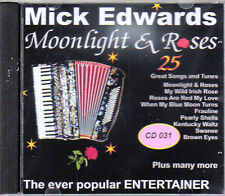 MICK EDWARDS -  MOONLIGHT & ROSES MINT CD - FREE POST IN UK