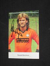 RONALD BORCHERS  Autogrammkarte  signiert  EINTRACHT FRANKFURT INFOTEC 1982-1983