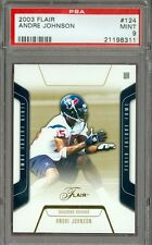 2003 Flair /500 Andre Johnson #124 PSA 9 Texans Rookie