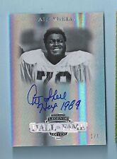 ART SHELL 2012 PRESS PASS HALL OF FAME EDITION INSCRIBED AUTOGRAPH AUTO 1/1