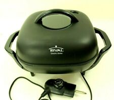 "Rival S12T 12"" Electric Skillet  Immersible Non Stick Frying Pan See Through Lid"