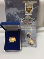 1969 New York Mets World Series Press Pin Balfour Box COA & Papers