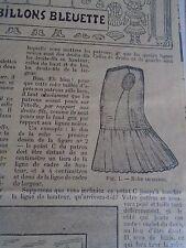 """PATRON ORIGINAL POUR LA POUPEE BLEUETTE  """"ROBE DE DESSOUS FEVRIER 1910"""