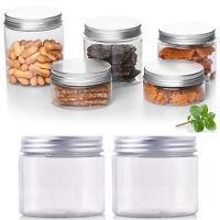 5 Pcs 50-250ML Aluminum Cap Cosmetic Tin Pot Lip Balm Container Jar Oil Holder