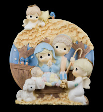 Precious Moments Nativity Plate The Bradford Exchange Limited Edition 1999