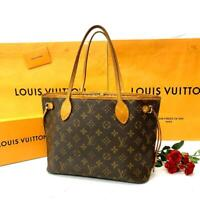 Louis Vuitton Monogram Neverfull PM Tote Bag Brown Auth MM5023