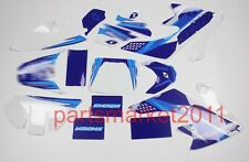 3M Blue Emblems Decals Graphics For Honda CRF50 Pit bikes SDG SSR DHZ Faulty