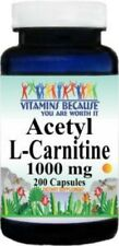 Acetyl L-Carnitine 1000mg Energy-Chronic Fatigue-Focus- 200 caps