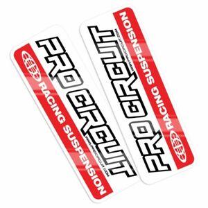 Pro Circuit  Mx Graphics Racing Suspension Motocross Bike Red Fork Decals