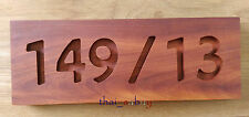 Natural Burmese Rosewood Custom Carved Address Numbers Personalized Door wall