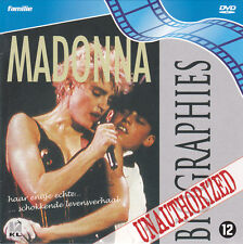 MADONNA - Unauthorized Biographies promo DVD 1995 no LP CD live