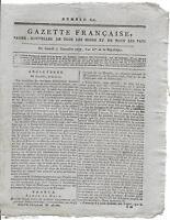 Rare Journal Révolution GAZETTE FRANCAISE Papier Nouvelles Pays an II 1793 N°616
