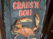 Vintage NATIONAL BOHEMIAN BEER SIGN CRABS'BOH Natty Boh Brewing Baltimore Light