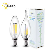 E14 Dimmable LED Lights Filament COB Retro Edison Bulb Candle/Flame Lamp 8W 220V