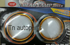 CHROME+ORANGE RING HEAD LAMP LIGHT COVER FOR CHEVROLET SONIC 4DOOR SEDAN 2012-ON
