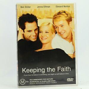 Keeping The Faith Ben Stiller Jenna Elfman Edward Norton DVD Free Tracked Post