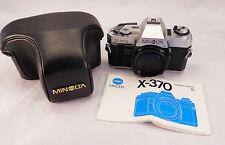 Minolta X-370 35mm Film Chrome Camera Body~ Outstanding Condition!