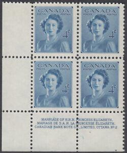 Canada - #276 Princess Elizabeth Plate Block #2 - MNH