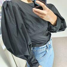 Isabel Marant 36 S Black Blouse Boho Shirt Leg Of Mutton Big Puff Sleeves