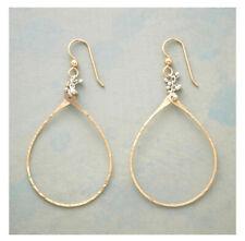 Dangle Earrings Retail $58 Nwt Backorder Sundance Catalog Caviar Tears Gold Hoop