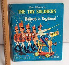 Walt Disney's The Toy Soldiers Babes in Toyland DEAN Children's Book HC 1962