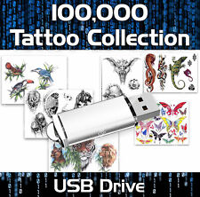 ULTIMATE TATTOO COLLECTION ON USB -  OVER 100,000 DESIGNS AND BONUS TUTORIALS
