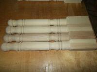 Ash wood table legs