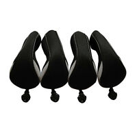 4pcs Black Golf Hybrid Wood Club Covers UT Rescue Headcovers For Callaway