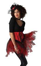 Burlesque Guêpière Donna Sexy Accessorio per Costume Rosso