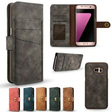 Galaxy S7 S7 Edge Magnetic Detachable  2 in 1 Flip Folio Wallet PU Leather Case