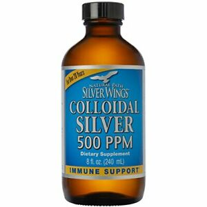 Natural Path Silver Wings - Colloidal Silver 500 ppm - Pure Mineral Supplement