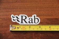 RAB Outerwear STICKER Decal NEW White Black