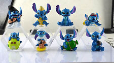 1set 8pcs cartoon Lilo & Stitch Doll ornaments Decorative furnishing articles