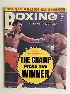 "Jan 1974 ""Boxing Illustrated"" Magazine featuring Muhammad Ali & Joe Frazier"