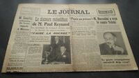 """"""" The Journal """" Edition Of 5 Heures Antique N°17325 Wednesday 27 Mars 1940 ABE"""