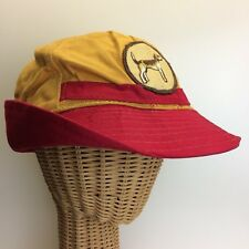 Vintage 1950's Sta-Dry Yellow & Red Duck Hunting JONES Hat Dog Patch Size 7 1/4