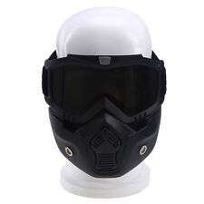 Removable Mask Helmet Eyewear Anti-fog Face Guard Goggles Snowmobile Glasses NEW