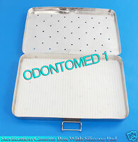 """STERILIZATION CASSETTE BOX 4"""" X 8"""" WITH SILICONE PAD FOR SURGICAL INSTRUMENTS"""