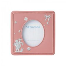 NEW IN THE BOX Jasperware Pink Cupid Girl 4x4 Picture Frame Wedgwood