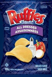 1 Bag Ruffles All Dressed Chips Size 220g From Canada - FRESH & DELICIOUS!