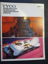 1970-71 TYCO HO SCALE ELECTRIC TRAINS AND ROADRACING SETS CATALOG EXCELLENT COND