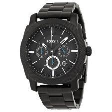 Fossil Original FS4552 Men's Machine Black Stainless Steel Watch 45mm