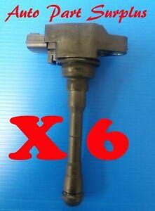 Nissan factory set of 6 ignition coils Hitachi 22448-JA11C, 3.5L models