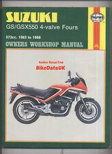 Suzuki GS GSX 550 E ES EF (1983-1988) Haynes Shop Repair Manual (16-valve) AA78
