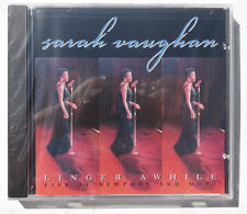 Sealed SARAH VAUGHAN Linger Awhile CD PABLO RECORDS US 1999