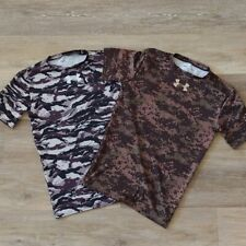 Lot of 2 UNDER ARMOUR Freedom Camo Compression Tops Size L