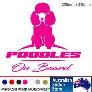Poodles on Board car sticker decal Cute 200mm x 210mm