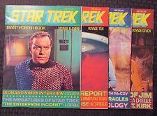 1970's STAR TREK Giant Poster Book #7 8 10 11 FN/FN+ LOT of 4 William Shatner