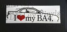 I love my BA4 Prelude 88-91 Sticker decal JDM Honda