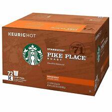 Starbucks Coffee K-Cups Pike Place 72 ct. Medium Roast Rich Blend Fresh Batch